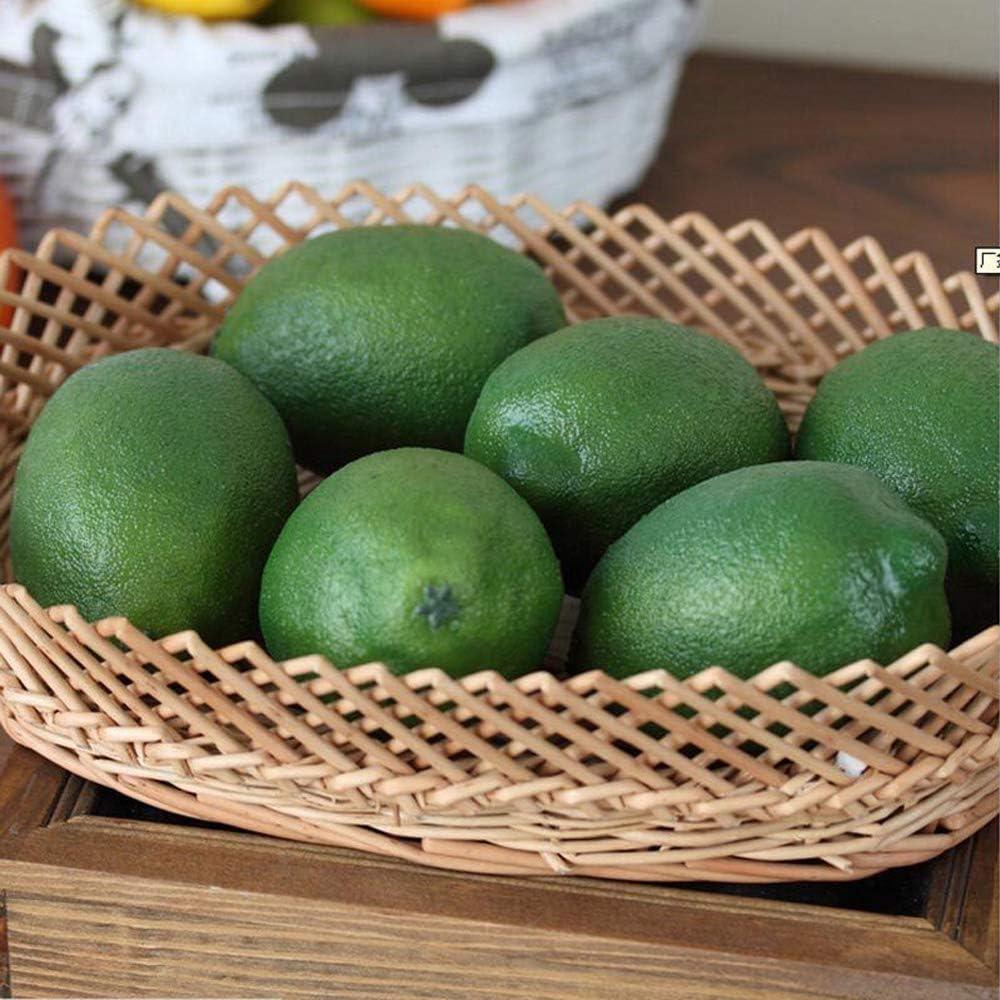 WDXG Artificial Lifelike Simulation Lemons Fake Fruit Decoration for Christmas Wedding Party Photography Food Model(10PCS Green)