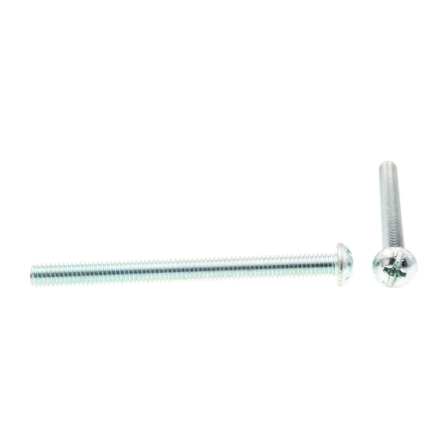 Pack of 10 5//16 in-18 X 4 in Round Head Prime-Line 9006001 Machine Screw Zinc Plated Steel Slotted//Phillips Combination