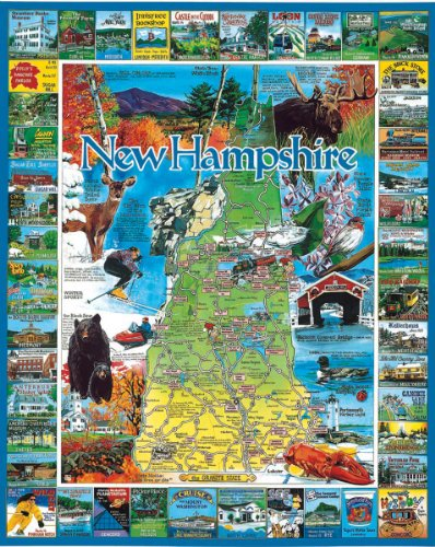 White Mountain Puzzles Best of New Hampshire - 1000 Piece Jigsaw Puzzle