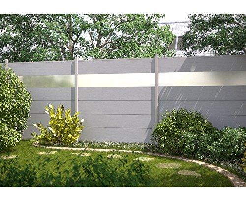 Amazon De Sichtschutz System Xl Wpc Grau Einzelprofil Grau