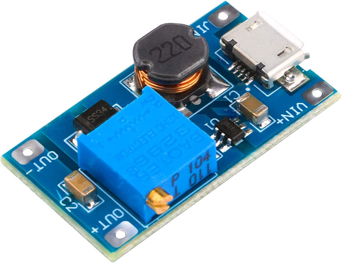 5V USB Input to 12V Output DC-DC Step Up Boost Power Supply Converter Module TCE