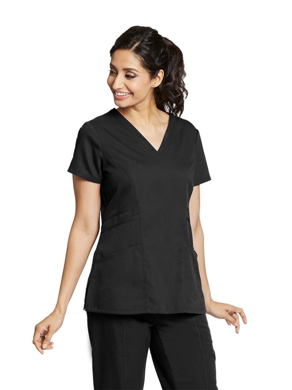 46dc16e8e35 Amazon.com: Grey's Anatomy 3-Pocket V-Neck Top for Women - Modern Fit  Medical Scrub Top: Clothing