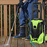 Meditool Electric Pressure Washer 3000 PSI High Pressure Power Washer Machine with Power Hose Gun Turbo Wand 5 Interchangeable Nozzles (3000PSI)