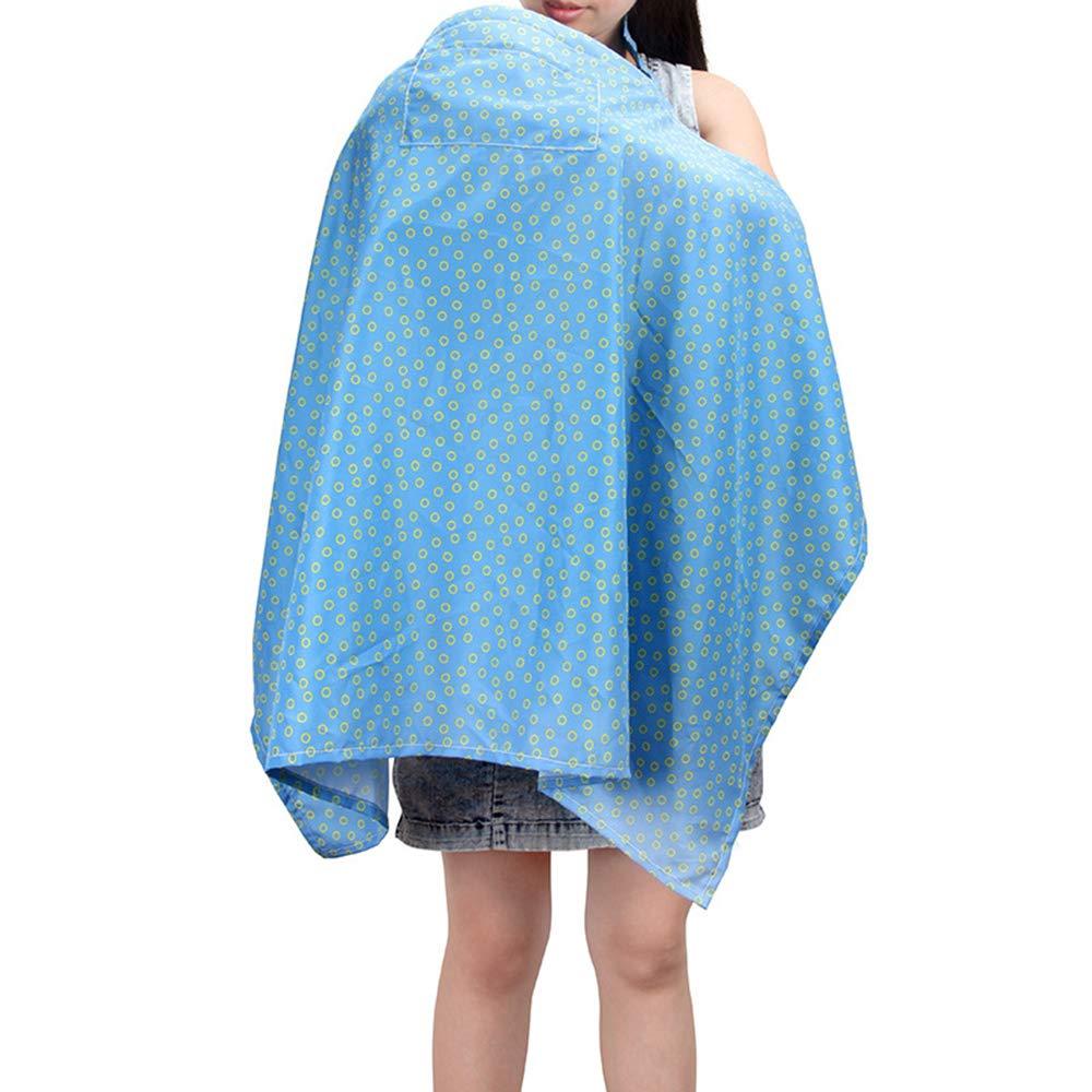 Cochecito toldo Azul Piel de melocot/ón SMARTRICH Bufanda de Lactancia Materna 100 * 67.5cm Pa/ño antiinflamaci/ón para Asiento de Coche
