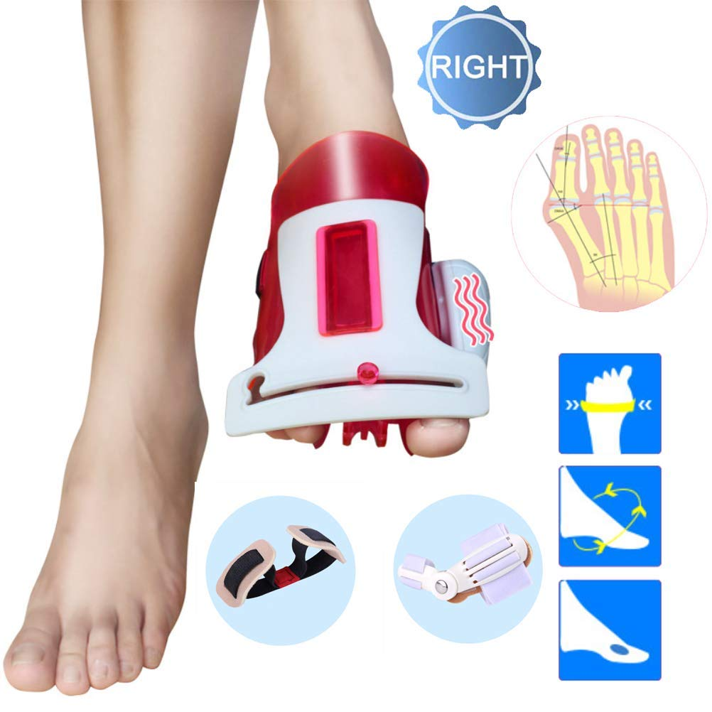 CXDM Bunion Splints Big Bones Hallux Valgus Orthosis Pain Relief and Orthopedic Rehabilitation Unisex Bunion Corrector,Red,Right by CXDM