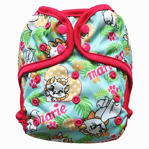 One Size Cloth Diaper Cover Snap With Double Gusset (Cat)