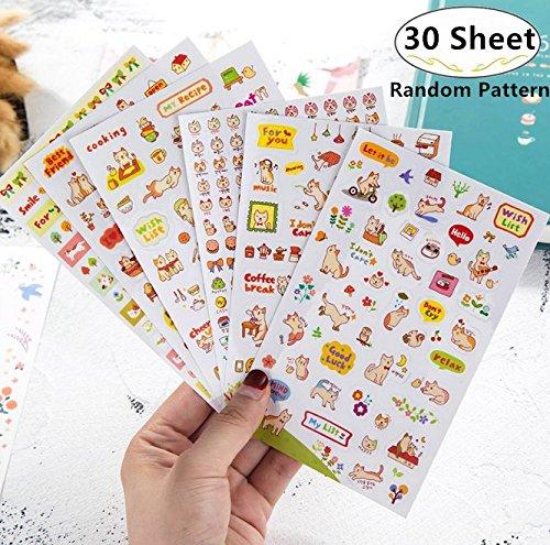 1500 Calendar - 1500-2000 Pieces Cute Cartoon Planner Stickers Value Pack, Magnolora Decorative Diary Book Sticker Scrapbook Planner Collection for Scrapbooking, Calendars, Arts, Kids DIY Crafts, Album, Bullet Journa