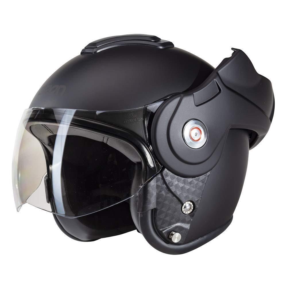 XL Beon B702 Reverse Matt Schwarz Motorrad helm Klapphelm