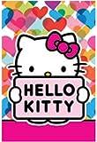 Petite serviette de bain hello kitty 40 x 60 cm-serviette toilette multicolore