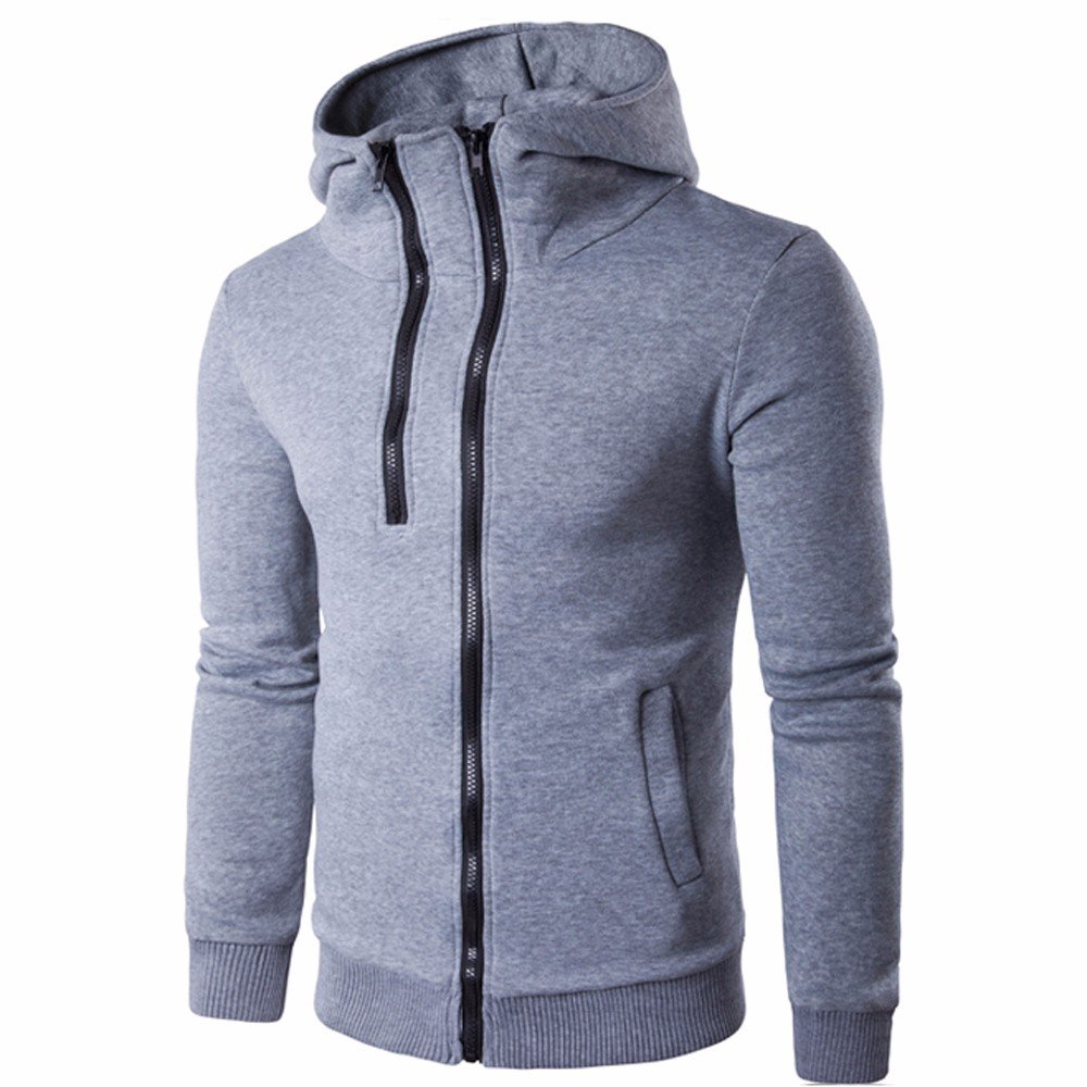 Men Autumn Winter Casual Slim Fit Long Sleeve Hoodie Top Blouse,YanHoo Men Zipper Coat Jacket Outwear Sweater Winter Slim Hoodie Long Sleeve