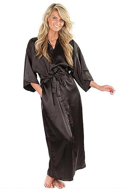 dernières tendances de 2019 code de promo style attrayant CARMELAA Women Silk Satin Robe Kimono Robe Feminino Bath ...