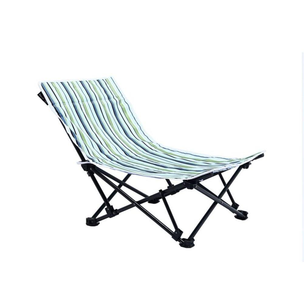 HMWPB Klappstuhl Außen,Streifen Lightweight Campingstühle Liege Verstellbar Lounge Chair Strand Stuhl Zum Angeln Wandern Garten