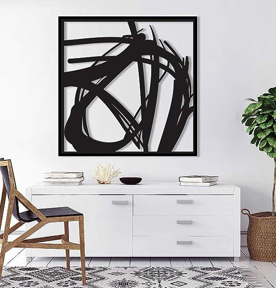 Hisseki | Abstract Metal Wall Art Home D cor Living Room Office Dining Aluminum Modern Design Sculpture Ready to Hang