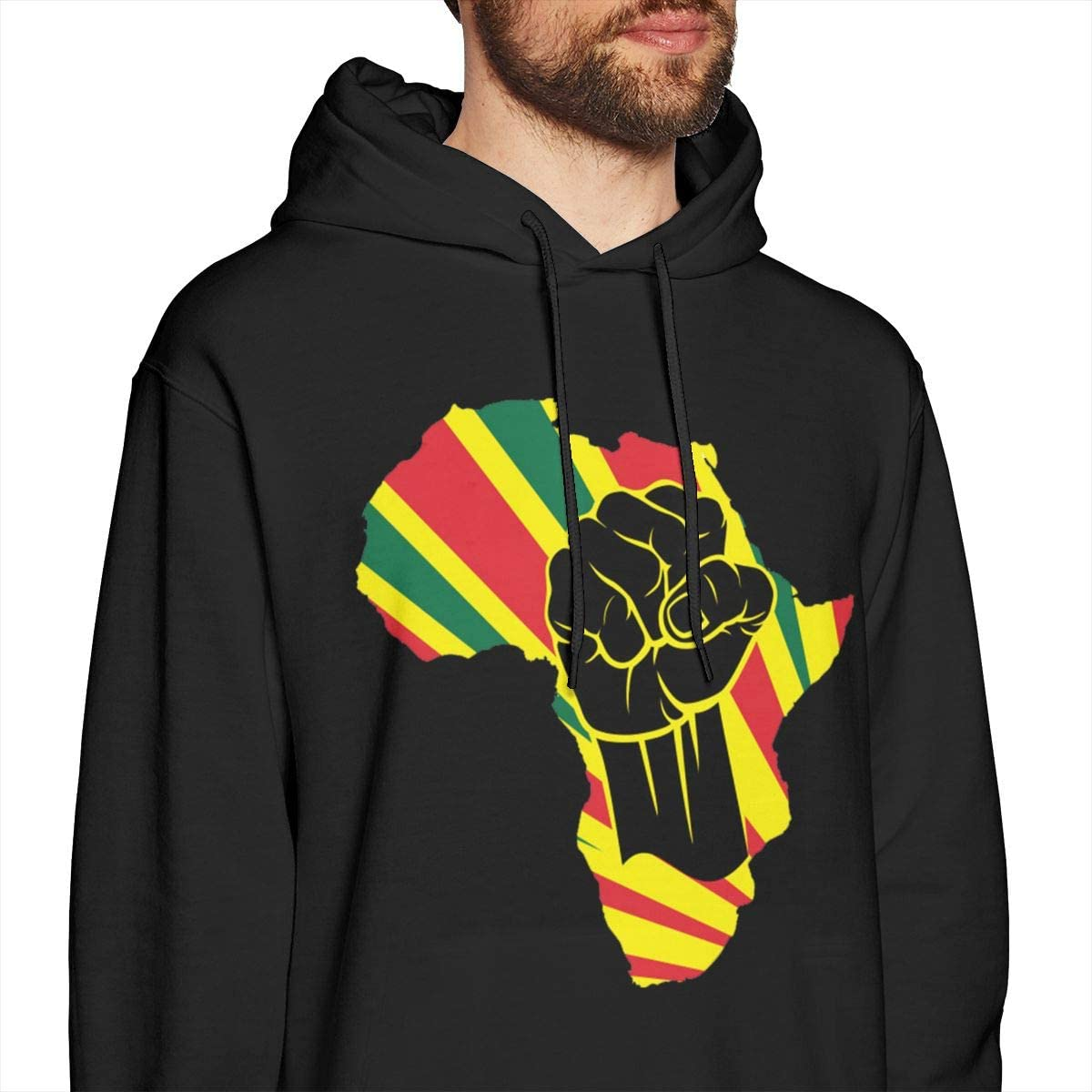 Marsherun Mens Sportswear African Black Power Pullover Fleece Hoodies