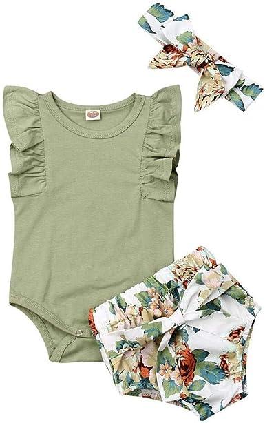 Clothes Set Summer Photography;Cotton Newborn Clothing Baby Girl Romper Headband Shoes 3pcs Set