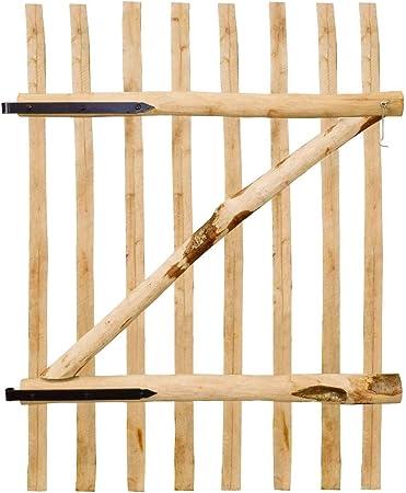 Tidyard Puerta Individual de Madera para Jardín,Puerta para Valla Verja Cercas o Cercados para Jardín Patio,Madera de Avellano 100x150cm: Amazon.es: Hogar