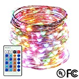 Dimmable LED String Lights,ER CHEN(TM) 66Ft 200 LEDs Copper Wire Starry ...