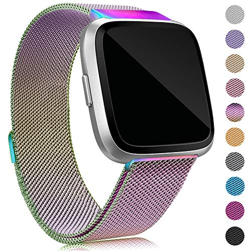 - Find-MyWay Compatible with Fitbit Versa Bands/Versa Lite Bands,Versa Accessories Wristband Mesh Stainless Steel Bracelet for Women Men Strap for Fitbit Versa/Lite/Special Edition