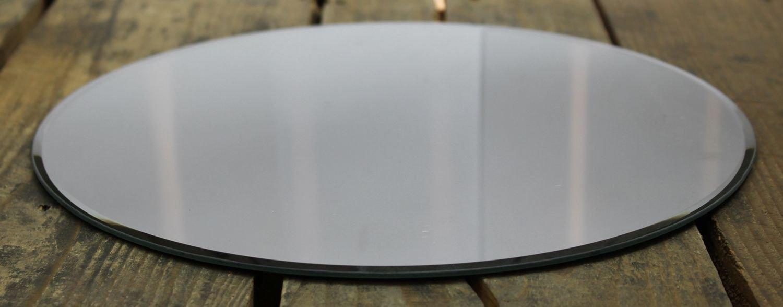 Redondo espejo de cristal vela placa soporte 30cm Carousel Home