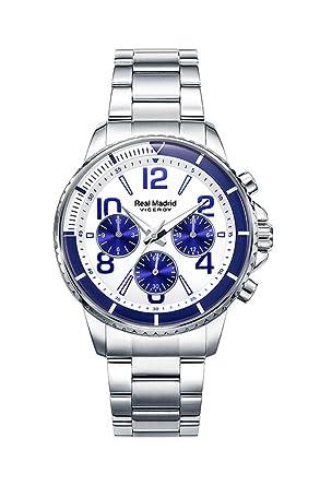 Viceroy Reloj Multiesfera para Hombre de Cuarzo con Correa en Acero Inoxidable 42309-07, Colección Real Madrid: Amazon.es: Relojes