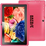 Haehne MiniPad 7 Pulgadas de Google Tablet PC, TN HD 1024*600P Pantalla Capacitiva, Android 4.4 KitKat, Quad Core de Allwinner A33 1GB de RAM 8GB 1.6GHz ROM, Cámaras Duales 0.3MP 2.0MP, WiFi, Bluetooth - Rosa