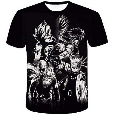 ee303aad Amazon.com: Detroital Unisex Anime T-Shirt Dragon Ball Z Naruto ONE Piece  Fairy Tail Bleach Tee: Clothing