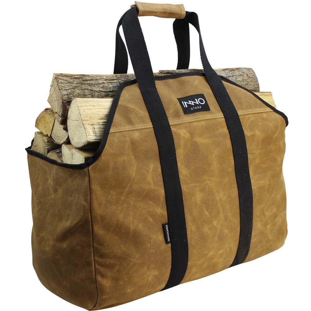 INNO STAGE Heavy Duty Waxed Canvas Firewood Log Carrier by INNO STAGE