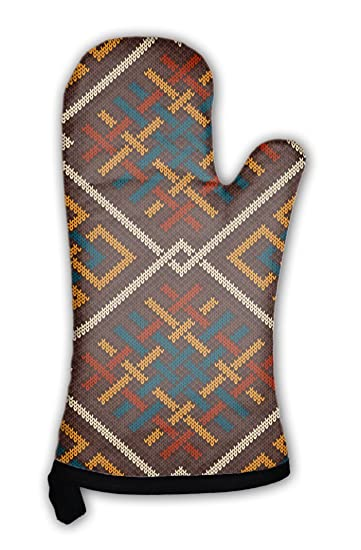 Amazon Gear New Oven Mitt Celtic Plexus Pattern Knitted Wool