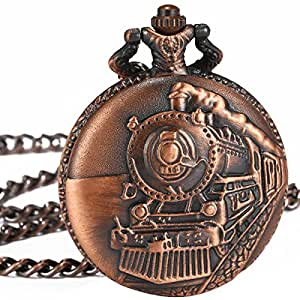 Amazon.com: WENSHIDA Vintage Cooper Train Embossed Mens ...