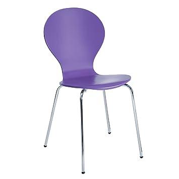 Design Klassiker Stapelstuhl FORM Küchenstühle Stuhl stapelbar lila ...