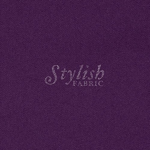 (Plum Solid Poly Poplin Fabric By The Yard - 1 Yard)
