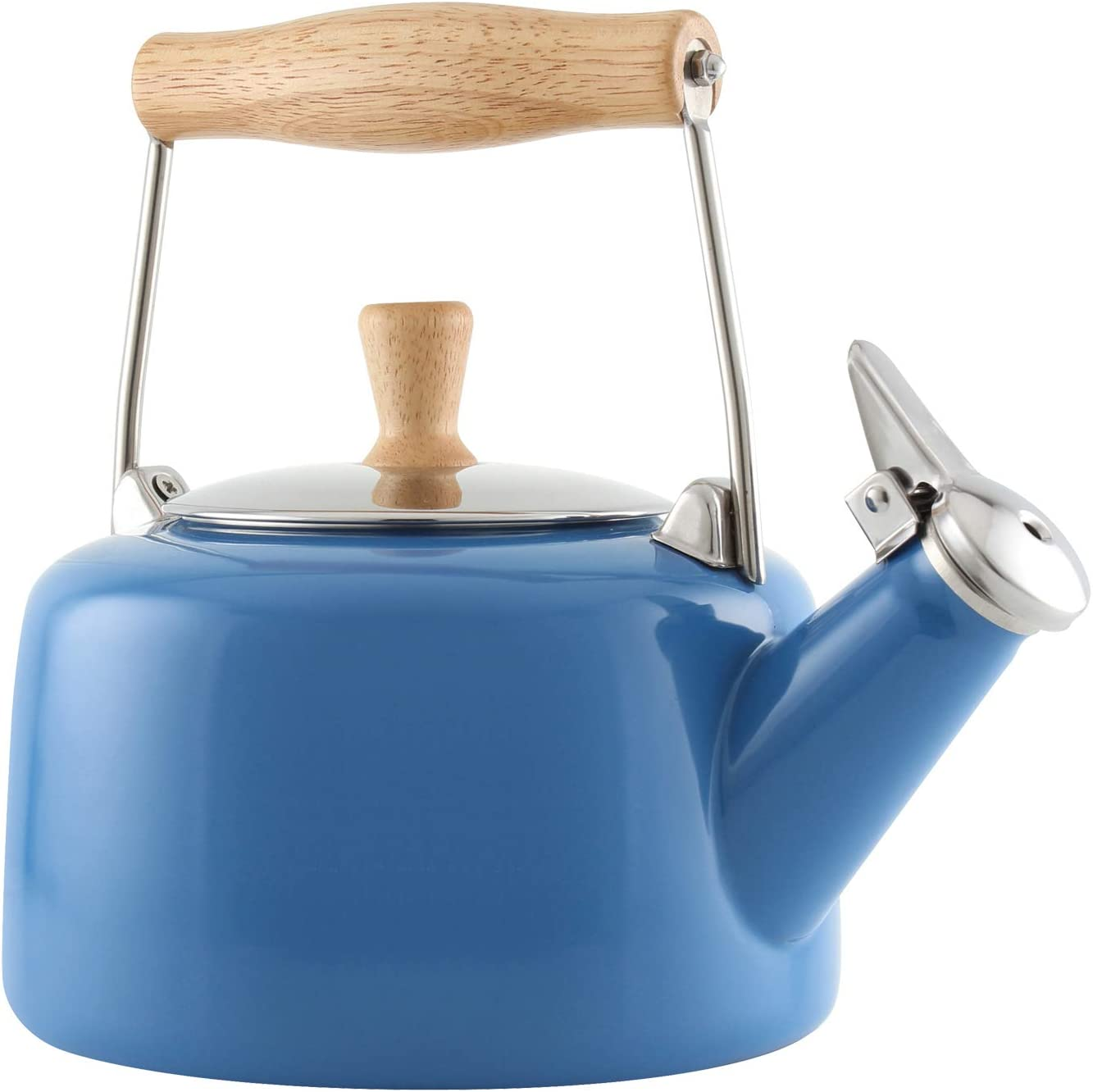 1.4 quarts Blue Cove Chantal Sven Enamel on Steel Whistling Teakettle