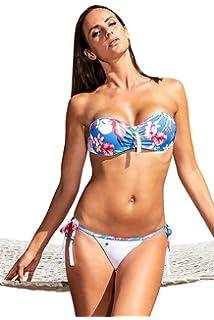 Maillot de Bain String Bikini Blanc Bleu Rose Vert Noir Orange