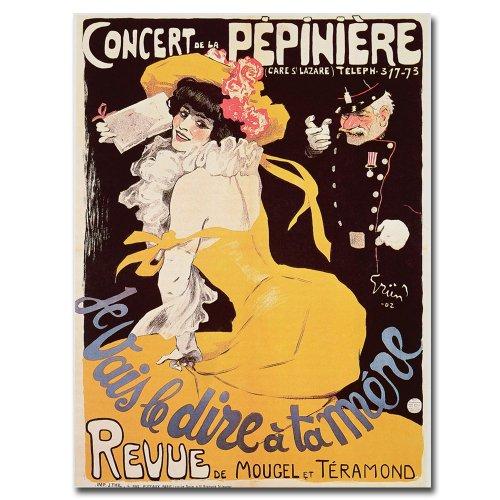 Concert de la Pepiniere, 1902, 18x24-Inch Canvas Wall Art by Trademark Fine Art