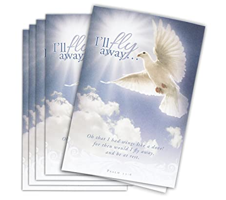 Amazon Com Funeral Program Paper Fly Away Package Of 25 With