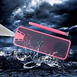 Bluetooth Speakers with Power Bank Powercore Start Sjsw Waterproof Outdoor Portable Wireless Speakers Bluetooth for iPhone  with Subwoofer 20 Hours PlayTime Red