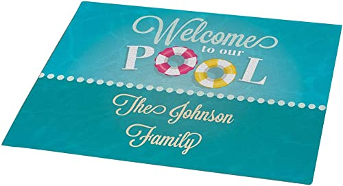 GiftsForYouNow Personalized Welcome to Our Pool 18 x 24 Doormat, Indoor Outdoor