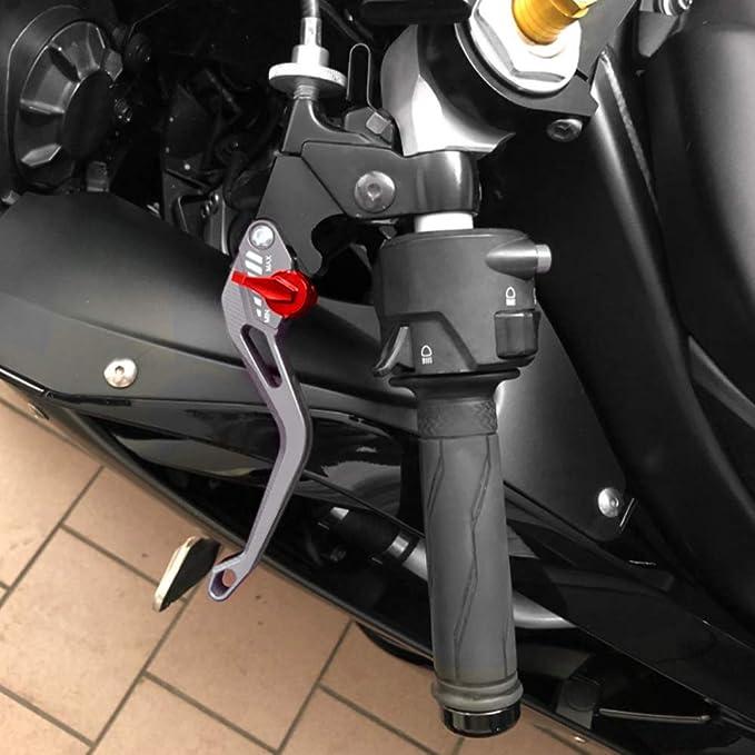 Kupplung Motorrad Für Suzuk Gsf650 Bandit 2007 2009 Bandit 650 2007 2015 Gsf1250 Bandit 2007 2015 Bremshebel Motorrad Hebel Grau Auto