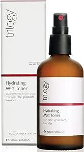 Trilogy Hydrating Mist Toner for Unisex, 3.3 Ounce