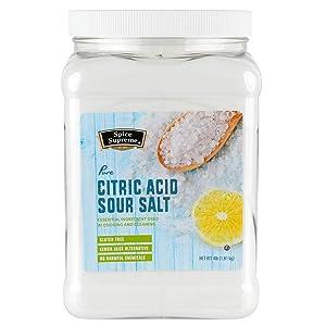 Spice Supreme Citric Acid - Sour Salt Food Grade Club Size 4 LB (64 OZ)
