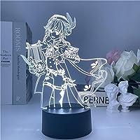 Lâmpada de LED 3D Illusion para mesa de trabalho Genshin Impact Animated Game Character Presente para decoração de casa…