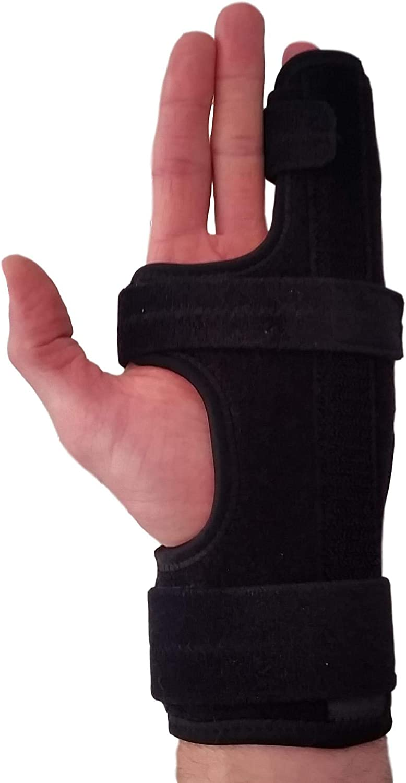 Metacarpal Finger Splint Hand Brace – Hand Brace & Metacarpal Support for Broken Fingers, Wrist & Hand Injuries or Little Finger Fracture(Left - Small/Med)