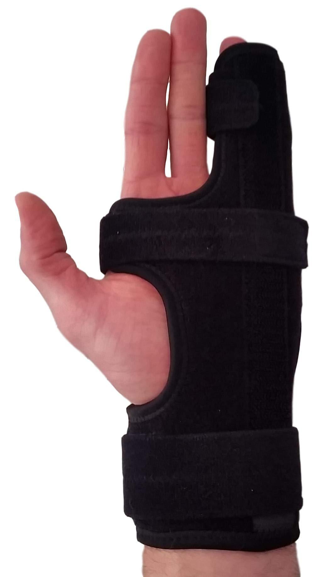 Metacarpal Finger Splint Hand Brace - Hand Brace & Metacarpal Support for Broken Fingers, Wrist & Hand Injuries or Little Finger Fracture (Left - Small/Med)