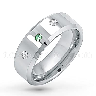 87e7931b9d4d Men s 0.21ctw Emerald   Diamond 3-Stone Wedding Band