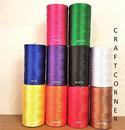 Juego de 10 bobinas de hilo de seda para máquina de coser para ...