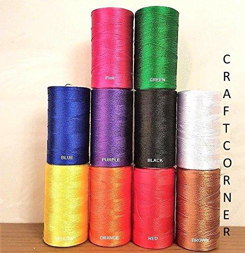 Juego de 10 bobinas de hilo de seda para máquina de coser para bordado de Janome Guterman, etc.: Amazon.es: Hogar