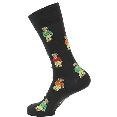 Polo Ralph Lauren mens Teddy Bear Socks 88950PG-BLK_10-13 - Black