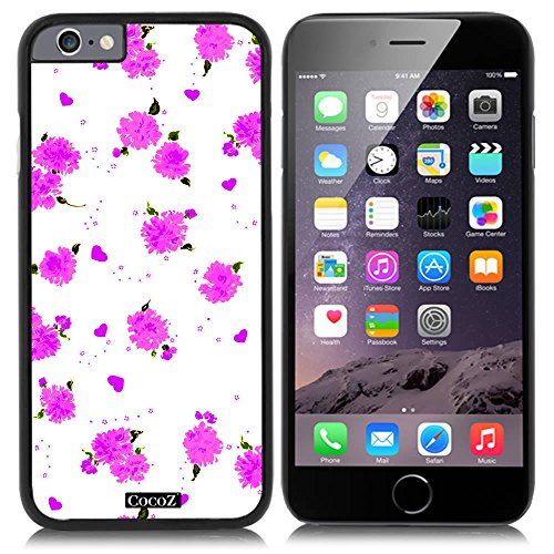 Price comparison product image CocoZ® New Apple iPhone 6 s 4.7-inch Case Beautiful flower pattern PC Material Case (Black PC & Beautiful flower 19)