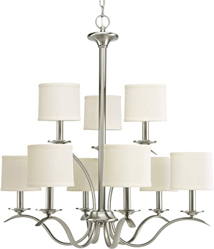 Progress Lighting P4638-09 Transitional Nine Light Chandelier from Inspire Collection
