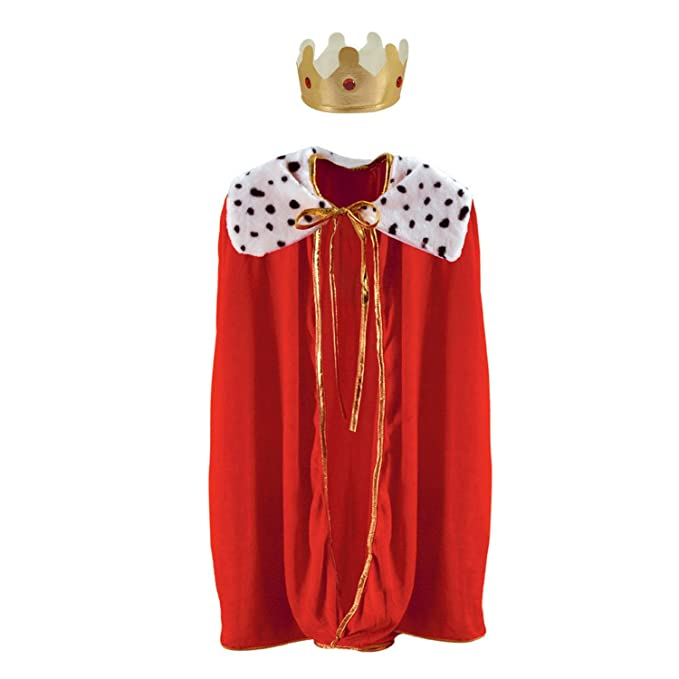 Child King/Queen Robe w/Crown (red)
